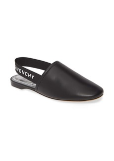 Givenchy Rivington Logo Slingback Flat (Women)