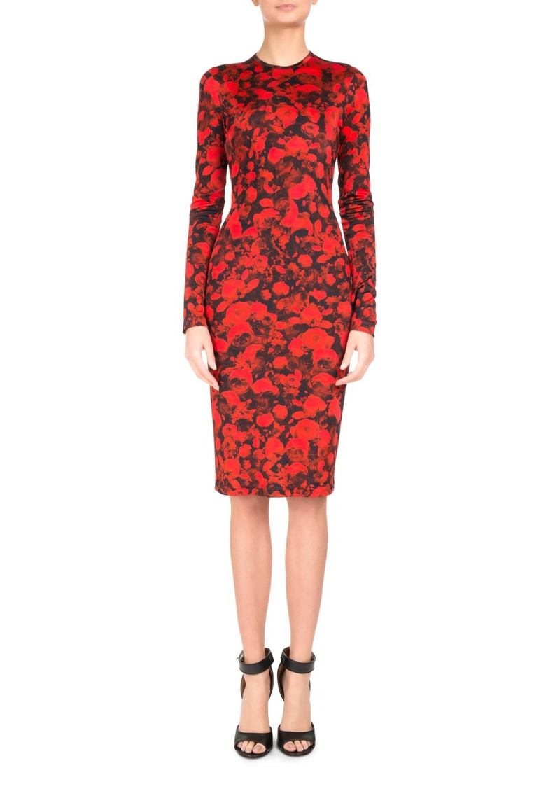40e7c0ef56 On Sale today! Givenchy Givenchy Rose-Print Jersey Pencil Dress