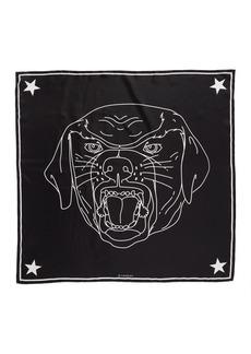 Givenchy Rottweiler Silk Twill Scarf