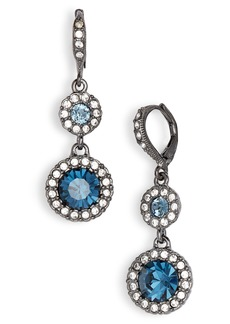 Givenchy Round Crystal Double Drop Earrings