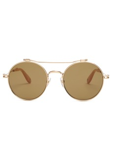 Givenchy Round-frame metal sunglasses