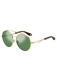 Givenchy Round Metal Aviator Sunglasses