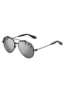 Givenchy Rubber Star Aviator Sunglasses