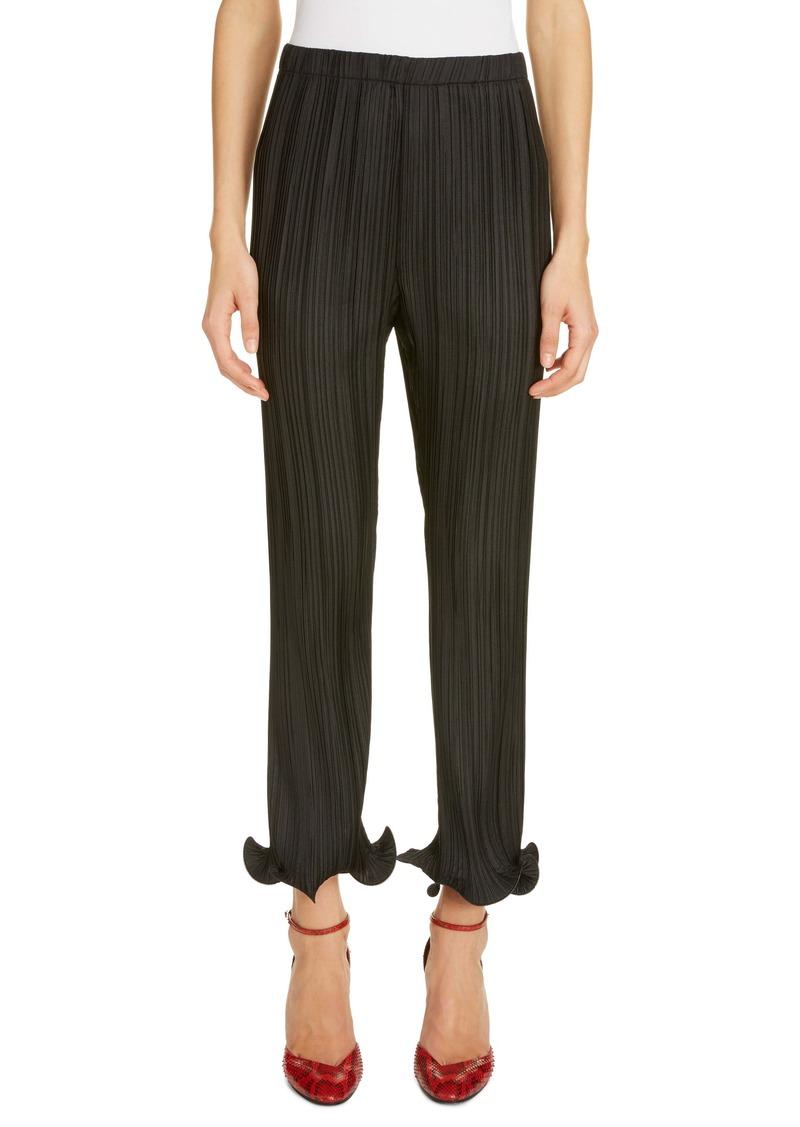 Givenchy Ruffle Cuff Plissé Pants