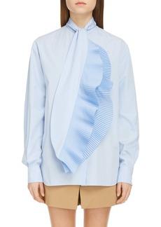 Givenchy Ruffle Scarf Neck Shirt
