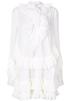 Givenchy ruffle shirt dress - White