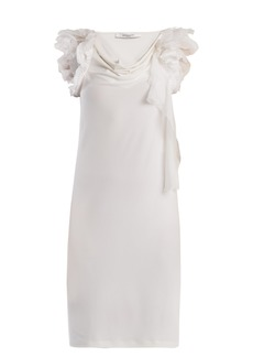 Givenchy Ruffle-trimmed cowl-neck crepe dress