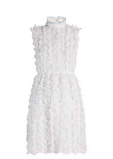 Givenchy Ruffle-trimmed sleeveless lace dress