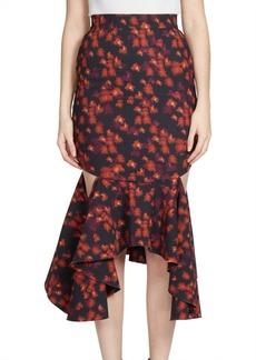 Givenchy Ruffled Cutout Midi Skirt