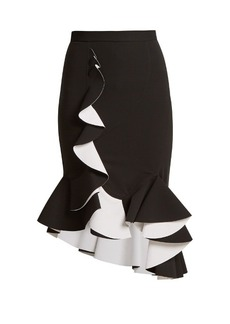Givenchy Ruffled stretch-crepe skirt
