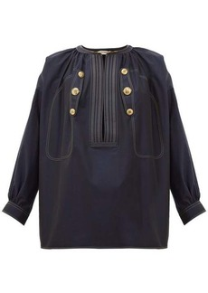 Givenchy Sailor cropped-sleeve cotton top