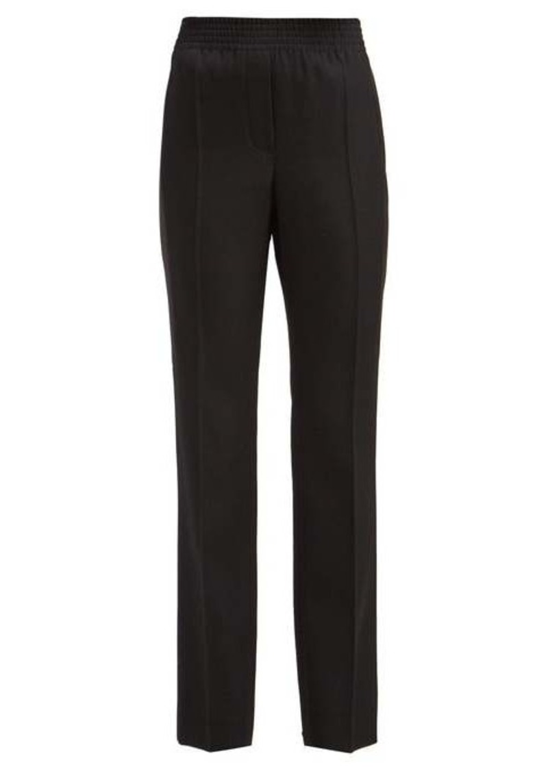 Givenchy Satin-stripe tailored wool trousers