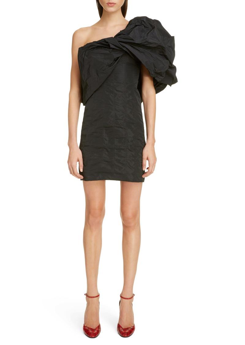 Givenchy Satin Taffeta One-Shoulder Minidress