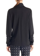 Givenchy Scarf Collar Jersey Blouse