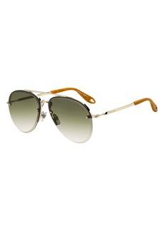 Givenchy Semi-Rimless Gradient Aviator Sunglasses