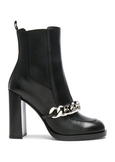 Givenchy Semi Shiny Chain Leather Chelsea Boots