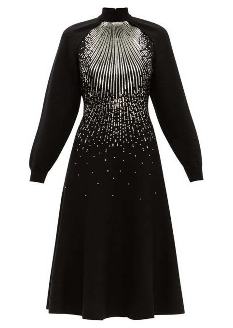 Givenchy Sequin-embellished wool-blend midi dress