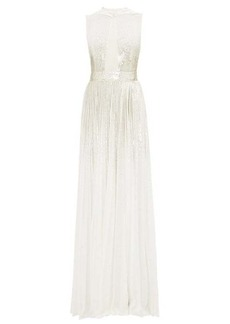 Givenchy Sequinned hooded silk-georgette gown