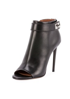 Givenchy Shark-Lock Open-Toe Bootie