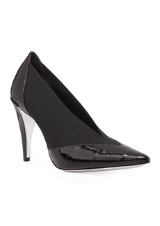 Givenchy Show Eel Pointed-Toe Stretch Pumps