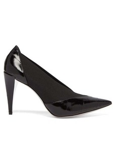 Givenchy Show elasticated-insert eel-skin pumps