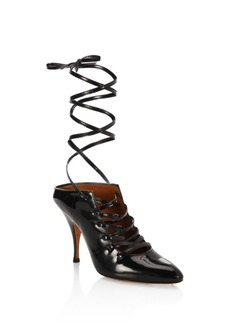 Givenchy Show Line Patent Leather Lace-Up Pumps