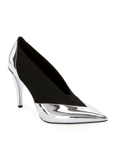 Givenchy Show Stretch Metallic Pumps