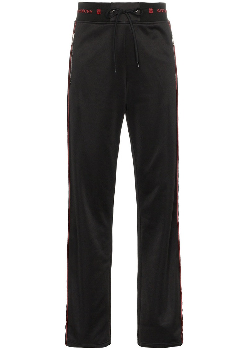 Givenchy side-stripe logo track pants