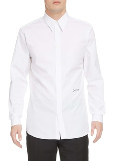 Givenchy Signature Logo Contemporary Fit Button-Up Shirt