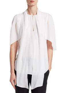 Givenchy Silk Cape Blouse