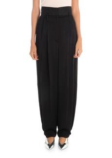 Givenchy Silk High-Waist Baggy Trousers
