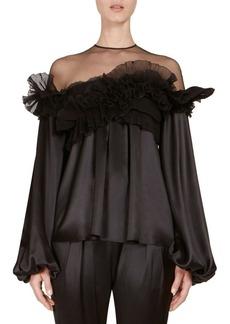 Givenchy Silk Ruffle Blouse