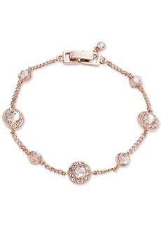 Givenchy Silver-Tone Pave Bracelet