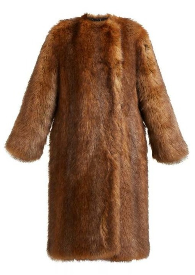 Givenchy Single-breasted faux fur coat