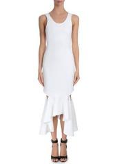 Givenchy Sleeveless Draped Flounce-Hem Dress
