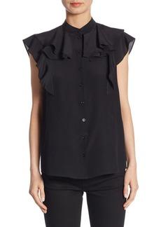 Givenchy Sleeveless Ruffled Blouse