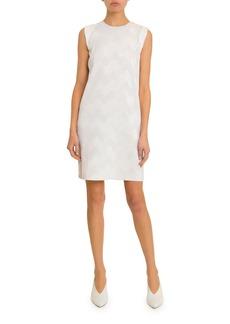 Givenchy Sleeveless Zigzag Plisse Dress
