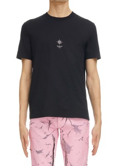 Givenchy Slim Fit Flower Cross Graphic Tee