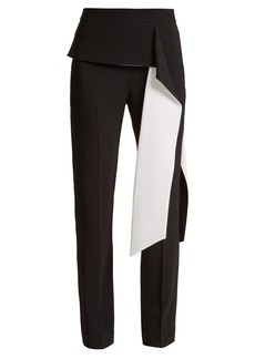 Givenchy Slim-leg stretch-crepe trousers