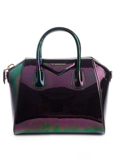 Givenchy Small Antigona Oil Slick Leather Satchel