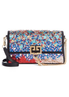 Givenchy Small Charm Rainbow Sequin Shoulder Bag