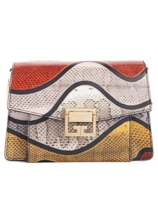 Givenchy Small GV3 Genuine Snakeskin & Leather Crossbody Bag