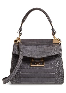 Givenchy Small Mystic Croc Embossed Leather Satchel