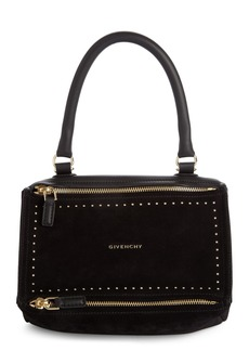 Givenchy Small Pandora Studded Leather & Suede Shoulder Bag