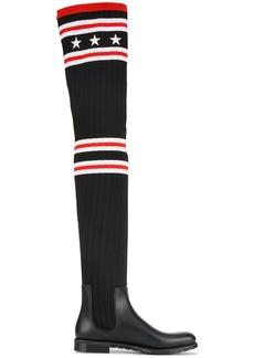 Givenchy sock style rain boots - Black