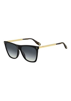 Givenchy Square Acetate & Metal Gradient Sunglasses