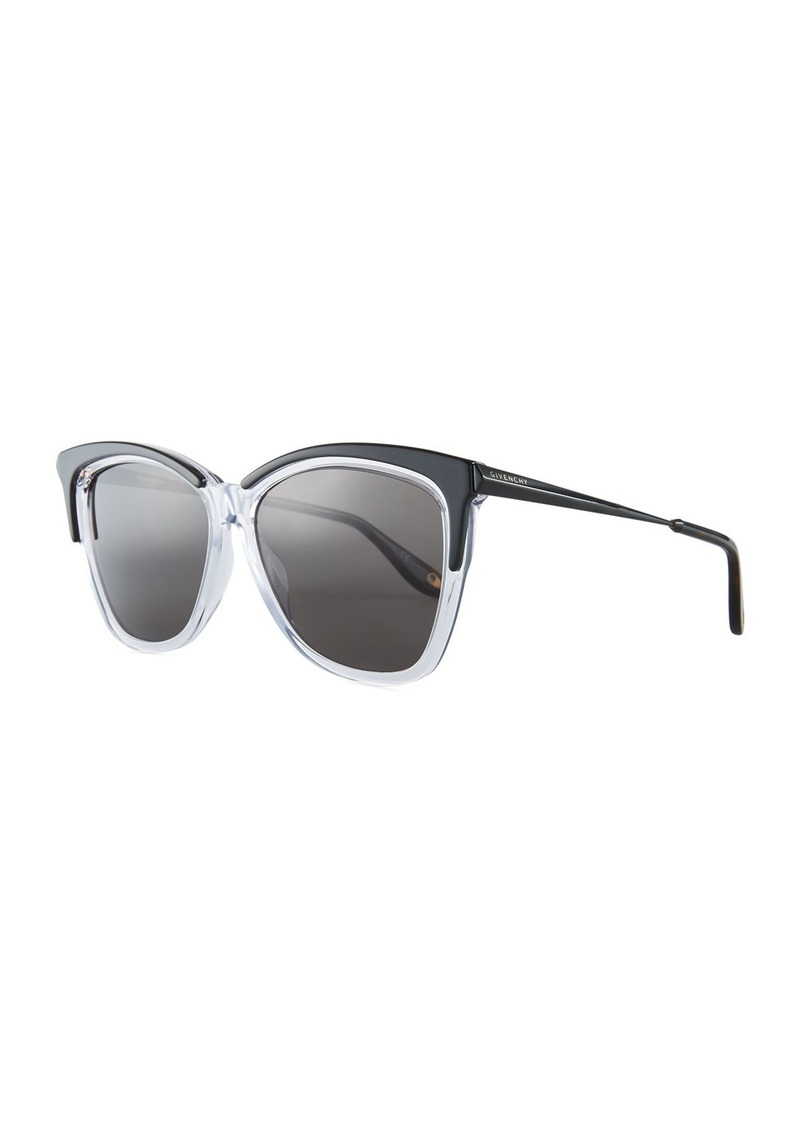 1262888b2d553 Givenchy Givenchy Square Metal   Acetate Sunglasses