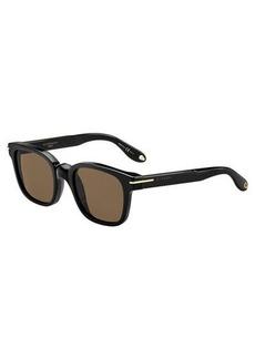 Givenchy Square Monochromatic Sunglasses