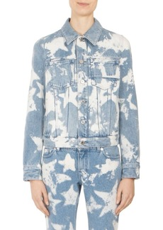 Givenchy Star Bleached Denim Cotton Jacket