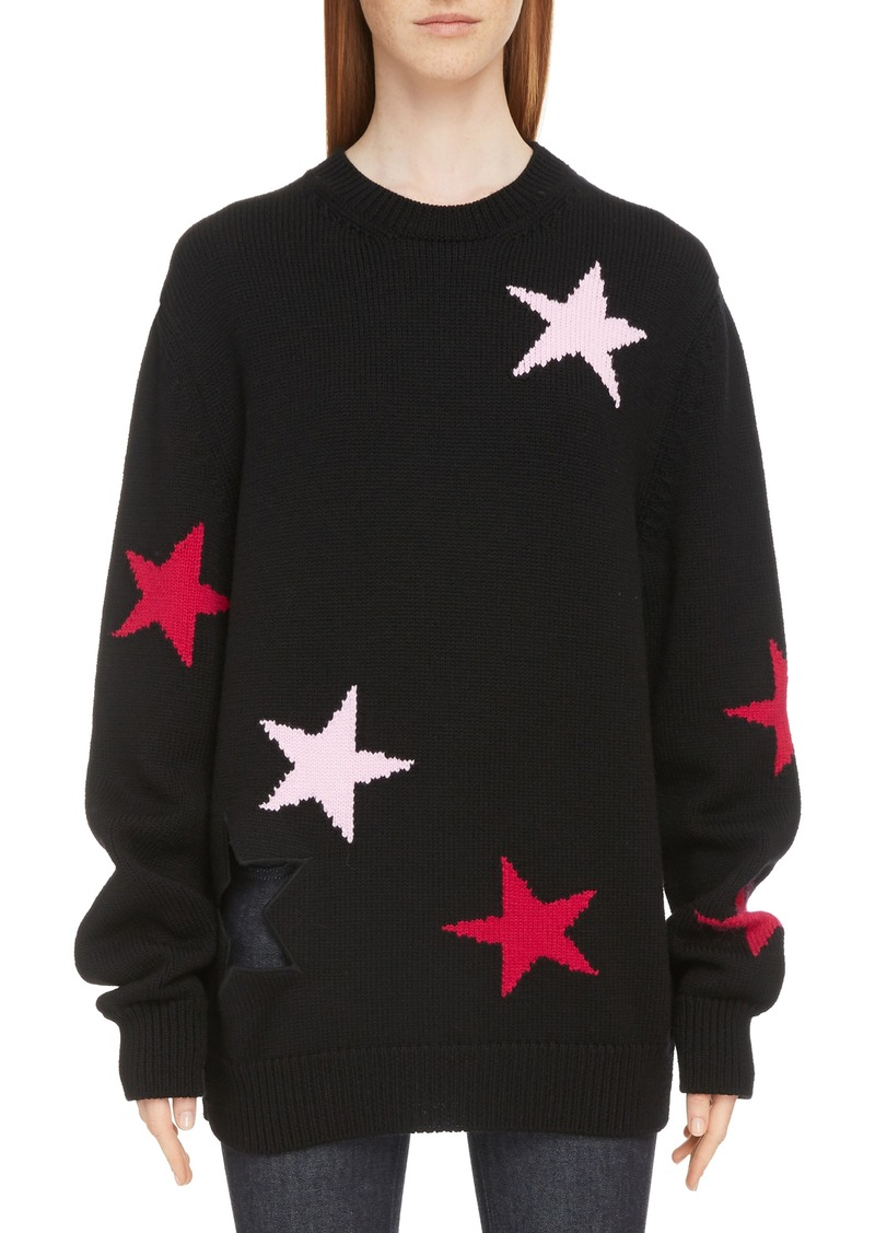 Givenchy Givenchy Star Cutout Wool Sweater  9057b13a3